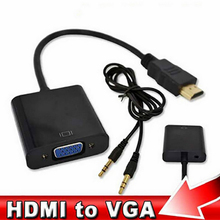 HDMI to VGA Converter Cable Analog AV to Digital Converter Adapter with Audio 1080P for PC Laptop to HDTV Projector(China)