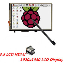 "New 3.5"" LCD HDMI USB Touch Screen 320x480 to 1920x1080 LCD TFT Display Audio for Raspberry Pi 3 Model B /Pi 2 (Play Game Video)(China)"