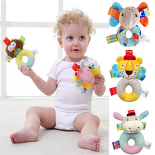 JJOVCE Baby Toys Plush Infant Development Soft Animal Handbells Rattles Handle Toys Newborn Gift Toys For Baby 0-12 Month(China)
