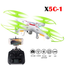 RC Drone x5c HD camera, 2.4GHz 6 axis gyroscope system, stable performance, 3D flip, one button return, no head mode can easily(China)