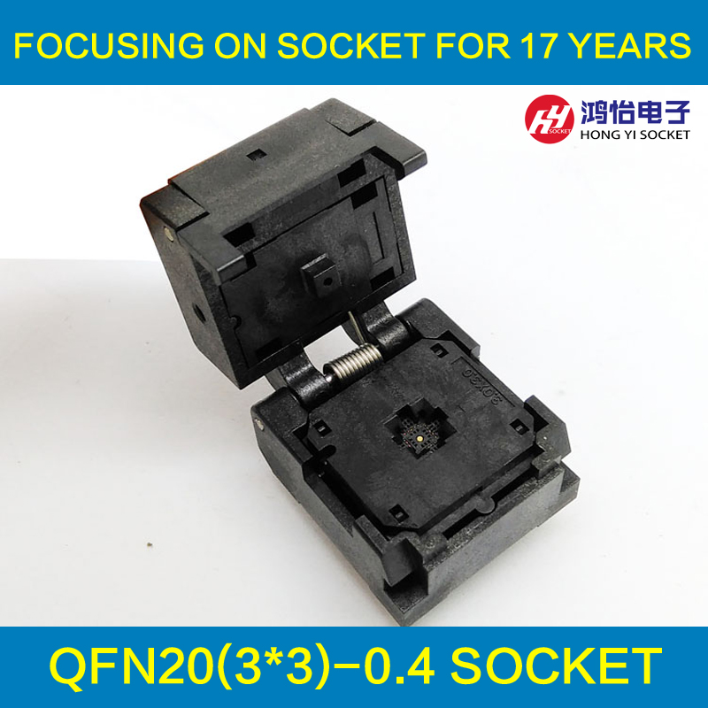 QFN20 MLF20 WLCSP20 Burn in Socket Adapter Pitch 0.4mm IC Body Size 3x3mm IC549-0204-005-G Clamshell Test Socket<br>
