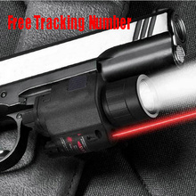 Tactical CREE LED Flashlight/Red Laser Sight Combo Weaver Picatinny Rail Mount w Remote Switch fit 4 gun Glock 17 19 22 20 23