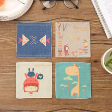 1 Pcs Modern Cartoon Tableware Cup Pads Mats Table Placemats Heat Insulation Coasters Child Kitchen Dinnerware Pallet Coaster(China)