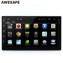 "AWESAFE 2 Din 7"" Android 6.0 Car DVD Player Radio GPS QuadCore Universale for vw/ford focus/toyota/nissan autoradio Audio Stereo(China)"