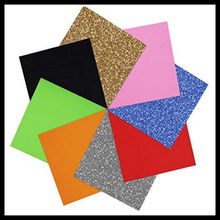 "Glitter Heat Transfer Vinyl Film Heat Press Cut by Cutting Plotter DIY T-shirt 20""x40""/0.5MX1M"
