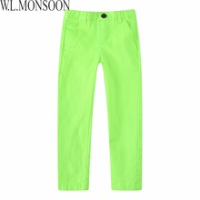 W.L.MONSOON Kids Clothes Boys Fashion Pants Girl Leggings Children Cotton 2017 Brand Spring Toddler Pants Boys Trousers 8 Colors(China)
