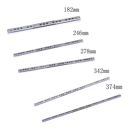 Track Slides Drawer Slide Drawer Two Cabinet Rails Thickening Computer Table  Clothing Cabinets Keyboard Roller Pulley Furniture