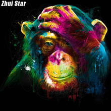 "Full Square Diamond 5D DIY Diamond Painting ""Lovely gorilla "" Embroidery Cross Stitch Rhinestone Mosaic Painting Home Decor(China)"