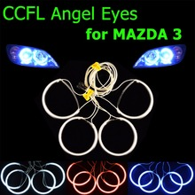 4 PCS/SET CCFL Angel Eyes for 2004-2008 MAZDA 3 Headlight HALO Rings Kit Head Lamp Decoration Color White Red Blue