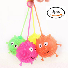 Green Orange Yellow Red Flash Smile Ball Hedgehog Ball Kids Toys Novelty and Gag Toys Light-Up Children's Toys Christmas gift(China)
