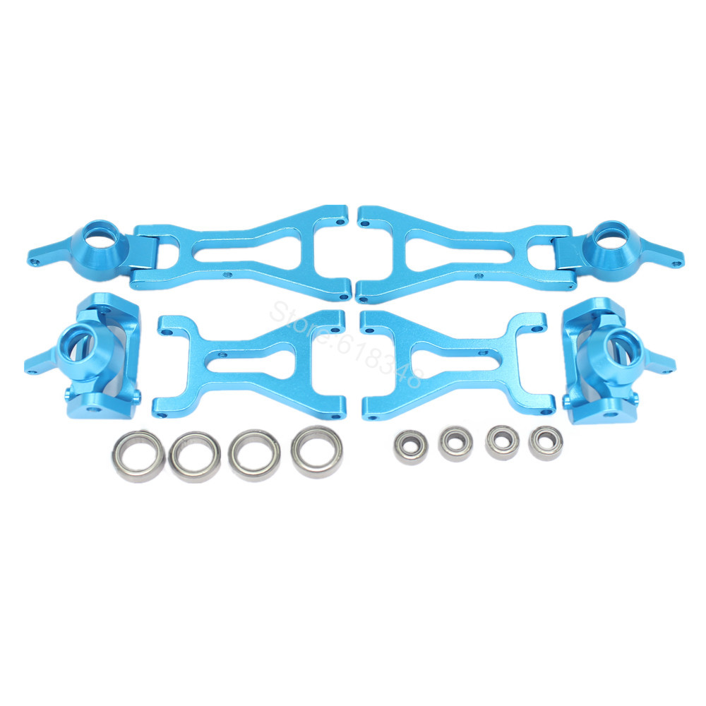 Aluminum Steering Knuckle Hub Base C Carrier Lower Suspension Arm Ball Bearings For RC 1/18 Wltoys A969 Upgrade Metal Parts<br><br>Aliexpress