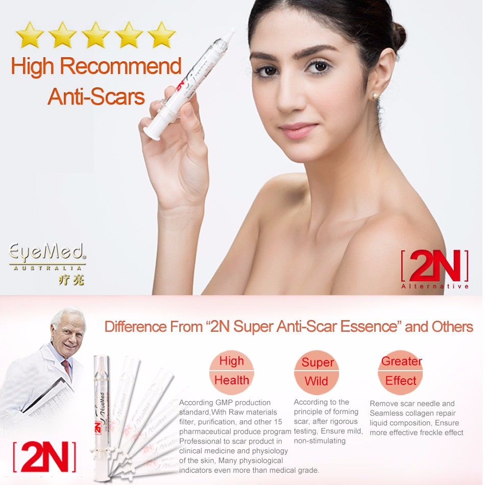 EyeMed 2N Best Acne Scar Removal Essence Effective Facial Scar Treatment Lotion Face Scar Old Scar Healing Product For Men/Women 32