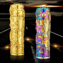 Electric Usb Charging Arc Cigarette Lighter Plasma Creative Design Dragon and Phoenix Style Windproof Pulse Lighter Gifts Box(China)