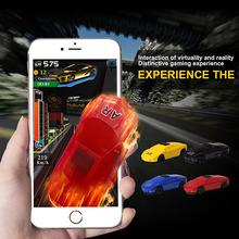 Virtual Game 3D AR Fly Car Gift Toy ABS Mini Real Shining Jumping Racing Car Educational Free Game App For iPhone Android(China)