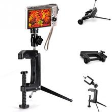 Portable Swiveling Clamp Tripod Desktop Mini C-Clamp tripod Stand for digital Camera Camcorder DSLR SLR