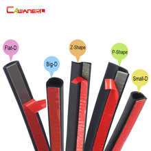 Cawanerl 10 Meter 1000CM Car Seal Strip Edge Trim Weatherstrip Rubber Sealing Strip Sound Insulation For Door Hood Trunk(China)