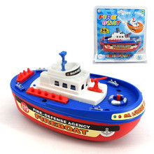 WEYA Boat Mode Vehicles toys Mini plastic fireboat can be sprayed miniatura gifts boy car toys for kids