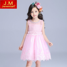 JEREMIAH Top Value Kids Girls Wedding Dress Satin Flower Girl Dress With Sequins Bows Hand Beading for Baby Girls Princess Dress