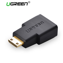 Ugreen Mini HDMI to HDMI Male to female Adapter converter gold plated connector HDMI V1.4 Ethernet 1080P 3D hdmi adapter(China)