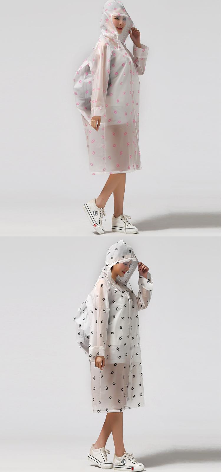 Women Transparent Portable Long Raincoats 20