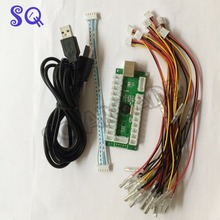 Zero Delay USB Encoder To PC Games For Arcade Sanwa Joystick Kits Parts Use on 5 Pin Roker and 2.8mm Buttons interface