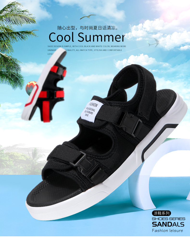 YRRFUOT Summer Big Size Fashion Men's Sandals Outdoor Hot Sale Trend Man Beach Shoes High Quality Non-slip Adult Flats Shoes 46 7 Online shopping Bangladesh
