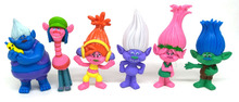 2017 Trolls Movie 6Pcs/Set 10cm Dreamworks Figure Collectible Dolls Poppy Branch Biggie PVC Figures Doll Toy Trolls Figures Toys(China)