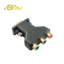 JSJ vga to the color difference component VGA switch head adapter turn three color difference free shipping(China)