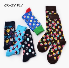 CRAZY FLY New Classic Hot Air Balloon women Crew Socks Of Happy Sock Casual Harajuku Designer Brand Skate Long Fashion