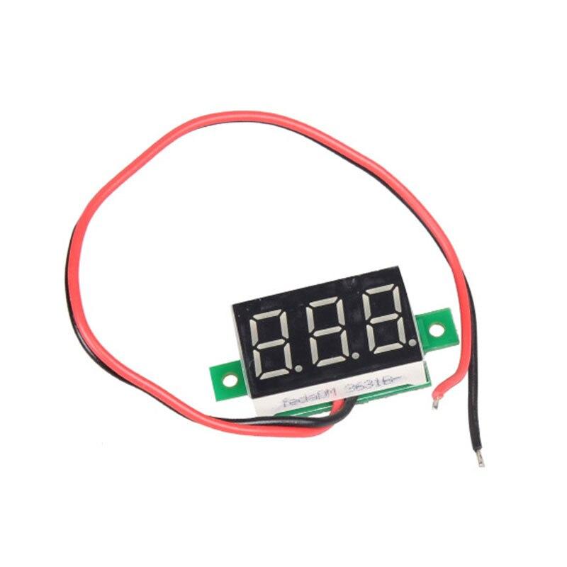 DC 2.5-30V Mini Digital Voltmeter Red LED Panel Voltage Meter Electrical Instruments Voltage Meters 3-Digital Display Voltmeter <br><br>Aliexpress