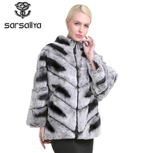 SARSALLYA Women's Real Rex Rabbit Fur Coat Natural Fur Winter Jacket Women with hood Outerwear with Genuine Fur Real Fur coat(China)