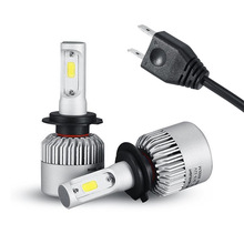 Buy TOYIKIE 1set Plug&Play Auto Car LED Headlight Bulb Fog Light Lamp Kit H4 H7 H11 H13 9005 9006 COB 72W 8000LM 6500K 12V 24V for $14.99 in AliExpress store