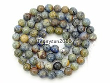 Natural Sunset Dumortierite Ja-sper Gems Stone Round Spacer Beads 16'' 4mm 6mm 8mm for Jewelry Making Crafts 5 Strands/Pack(China)