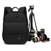 Upgrade Photo Camera Shoulders Backpack Pad Bags Shockproof Case Waterproof with Rain Cover Video Tripod Bag for Canon Nikon SLR(China)