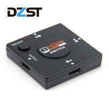 DZLST 3 Port HDMI Splitter Switcher 1x3 Mini HDMI Port 3 Input 1 Output for HDTV 1080P Video DV HDTV 1080P hdmi cable Wholesale(China)