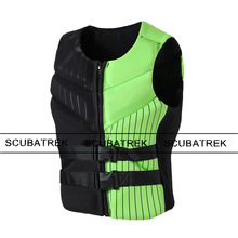 float swimsuit adult life vest neoprene floating vest swim life jacket surfing vest neoprene waterski swim buoys sailing jacket(China)