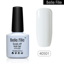 BELLE FILLE UV Nail Gel Polish Soak Off salmon pink nude color Professional vernis semi permanent Nail Art fingernail polish(China)