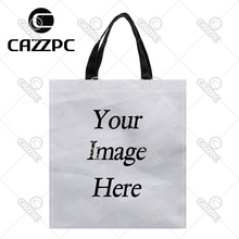 Your image photo Print Custom individual waterproof Nylon Fabric shopping bag gift bag pack of 2