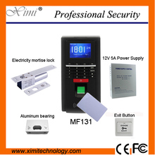 Fingerprint 13.56 MHz Mifare reader password keyboard + Electricity mortise lock fingerprint access control system toolkit MF131