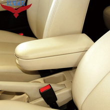 KUNBABY For VW OEM Leather Auto Center Console Armrest Pads Cover Arm Rest Box For Passat Jetta Golf Bora MK4 Skoda Octavia
