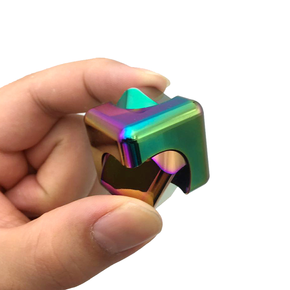 Cube Spinner Colorful Fidget Spinner Rotation Time Long EDC Metal hand spinner Autism ADHD Kids/Adult Funny Anti toy