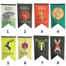 Home Decor Game Of Thrones Flag House Targaryen & Lannister & Stark Wolf Dragon Polyester Flags And Banners 75cmx125cm(China)