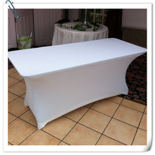Big Discount !!!!  10pcs  Spandex 6ft. Rectangular Table Cover -White  30'heght(183cm*45cm*75cm)  Free Shipping
