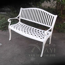 2 person cast aluminum good quality luxury durable park bench garden chair for outdoor(China)