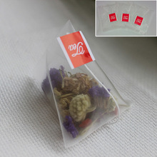 100pcs/lot Nylon Empty Pyramid Tea Bag Tea Infuser New Tea Strainer Teabags 5.5*6.8cm