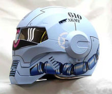 NEW style 610 MASEI motorcycle helmet Matte Blue IRONMAN Iron Man helmet half helmet open face helmet casque motocross(China)