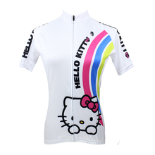 Hello Kitty Bike Women Cycling Jerseys Roupa Ciclismo Breathable Racing Bicycle Women Cycling Clothing Quick-Dry Sportswear