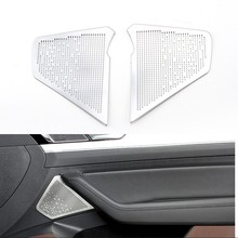 2Pcs Car Door High Loudspeaker Trim Cover Audio Speak Sticker For VW Volkswagen 2016 2017 passat B8 Variant Alltrack