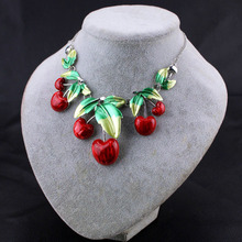 The European and American luxury color cherry necklace(China)