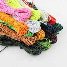 rubber elastic rope for clothing bags diy sewing accessories 10meters colorful high quality tailor elastic band 3mm diameter(China)